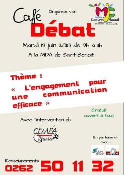 """Café/débat """"L'engagement pour une communication efficace"""""""