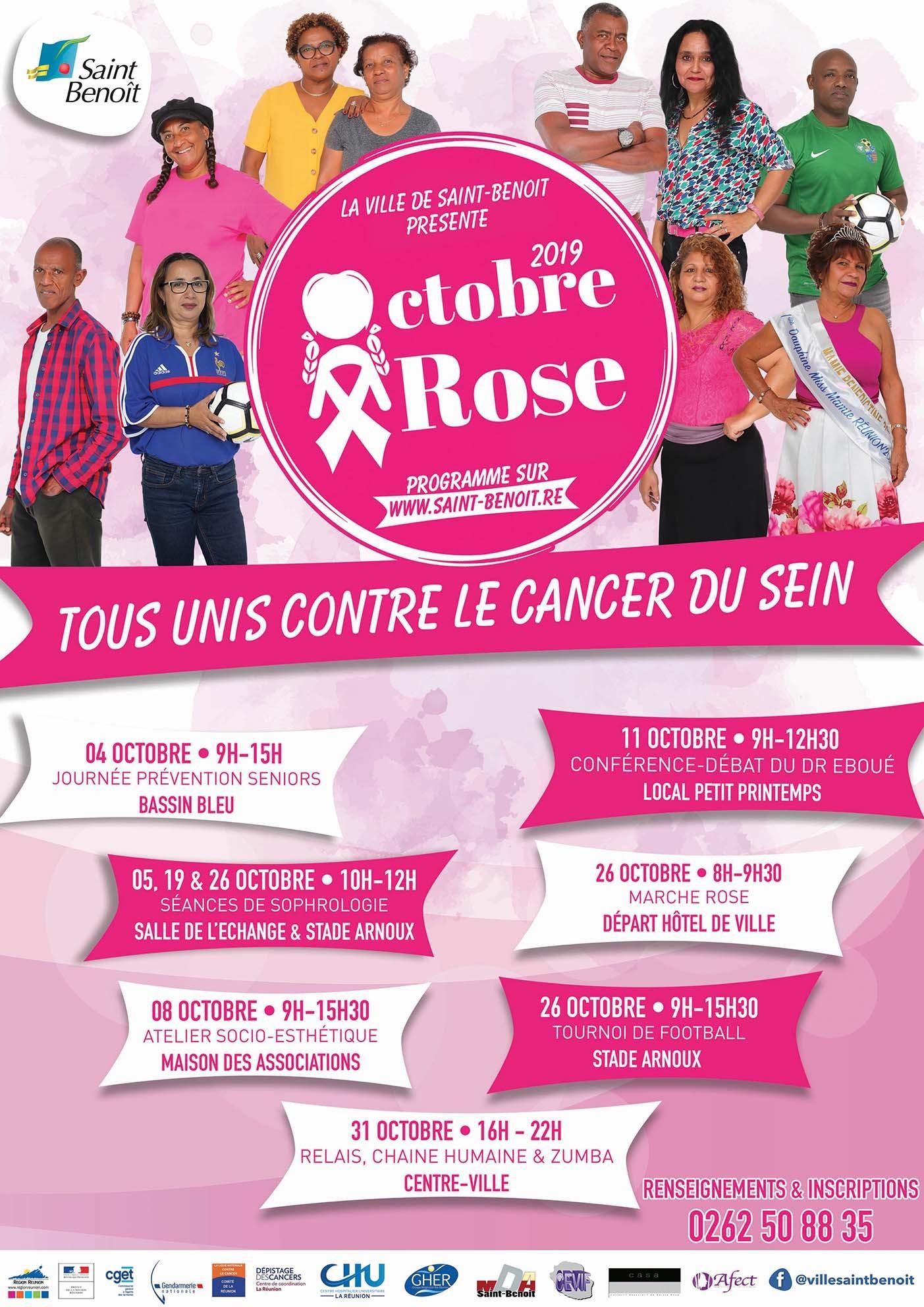 Octobre rose : un mois de mobilisation contre le cancer du sein !