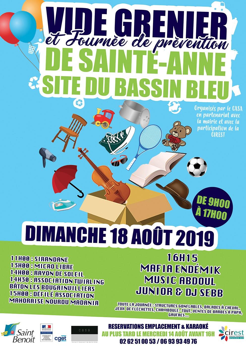 Vide grenier de Sainte-Anne et Journée de prévention