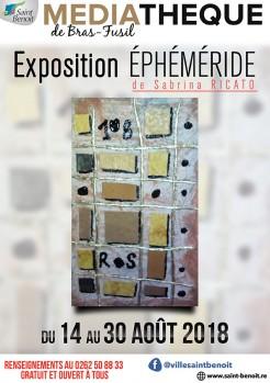"""Exposition """"Ephéméride"""" de Sabrina Ricato"""