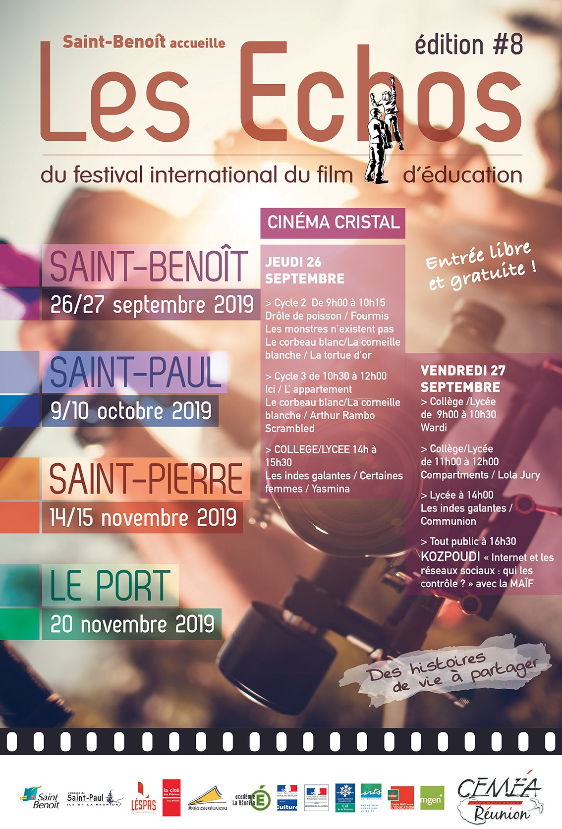 Les échos du festival international du film d'éducation