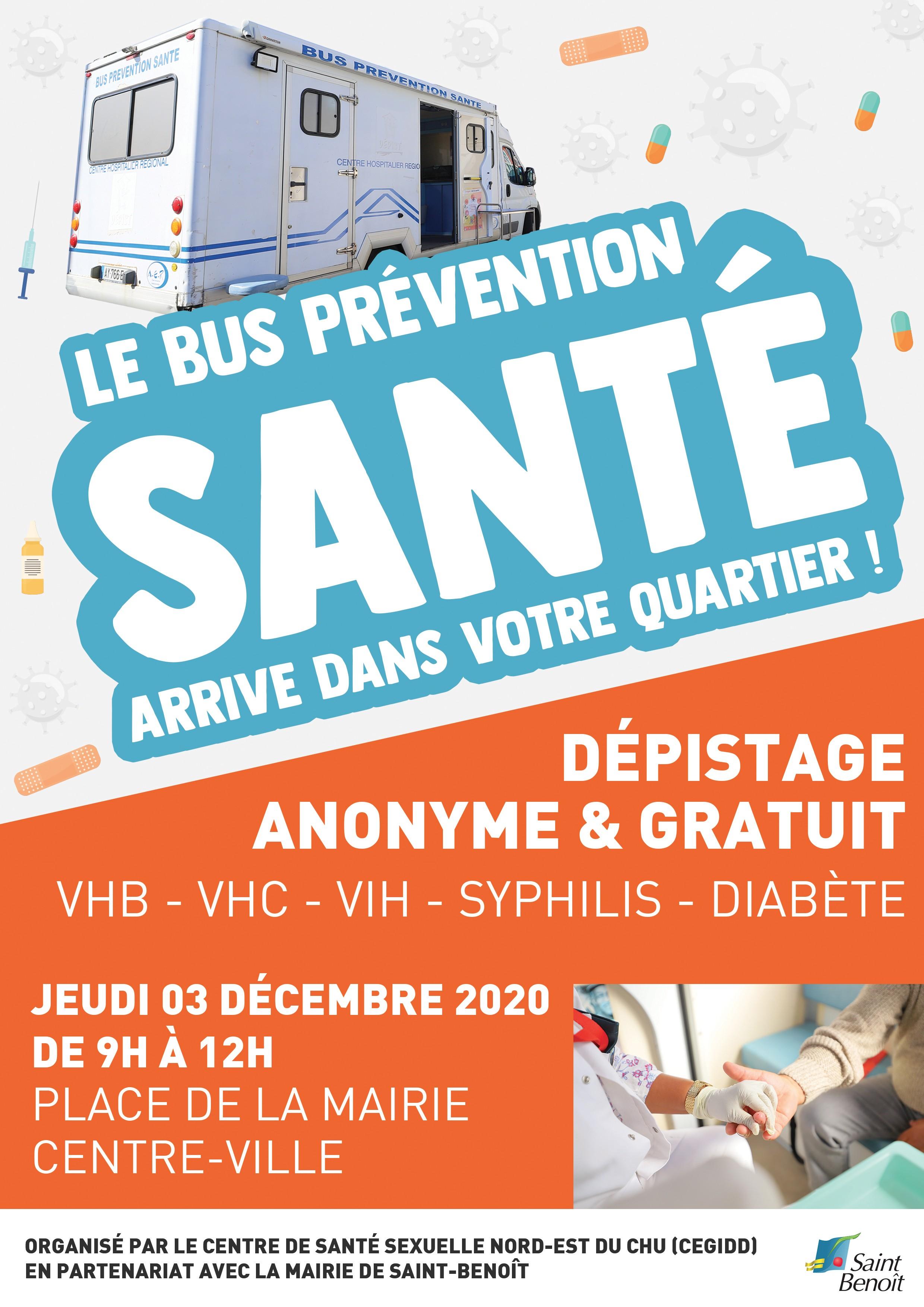 Dépistage anonyme et gratuit : VHB, VHC, VIH, Syphilis, Diabète