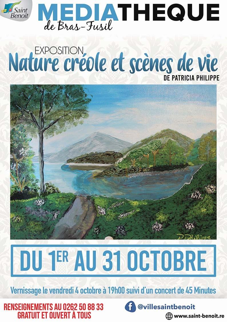 """Exposition """"Nature créole et scènes de vie"""" de Patricia Philippe"""