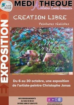 """Exposition """"Création libre"""" de Christophe Jonas"""