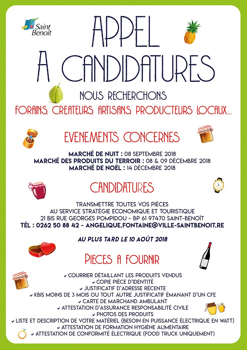 Appel à candidatures forains/exposants