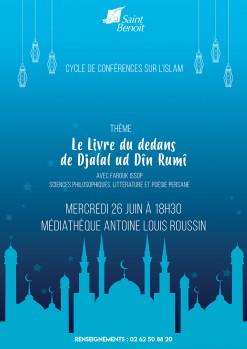 "Conférence ""Le Livre du dedans  de Djalal ud Dîn Rumî """