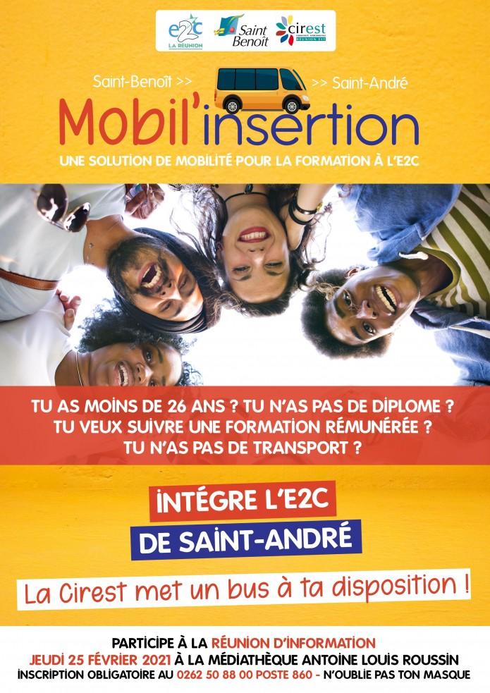 Mobil'insertion : une solution de mobilité pour intégrer l'E2C