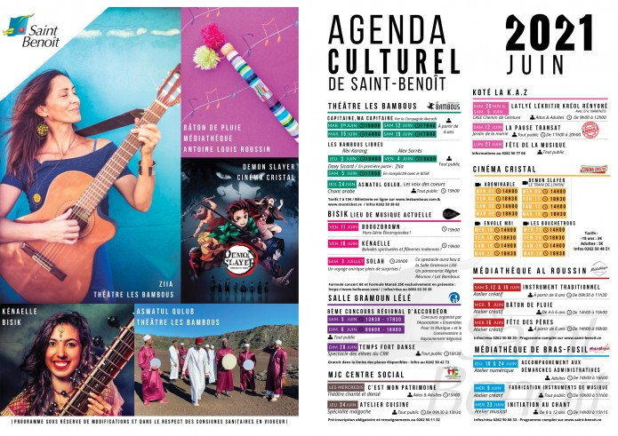 Agenda culturel // JUIN 2021