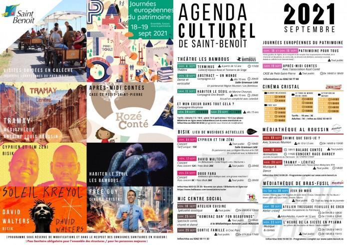 Agenda culturel //SEPTEMBRE 2021