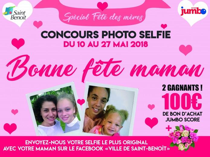 """Concours photo selfie """"Bonne fête maman"""""""