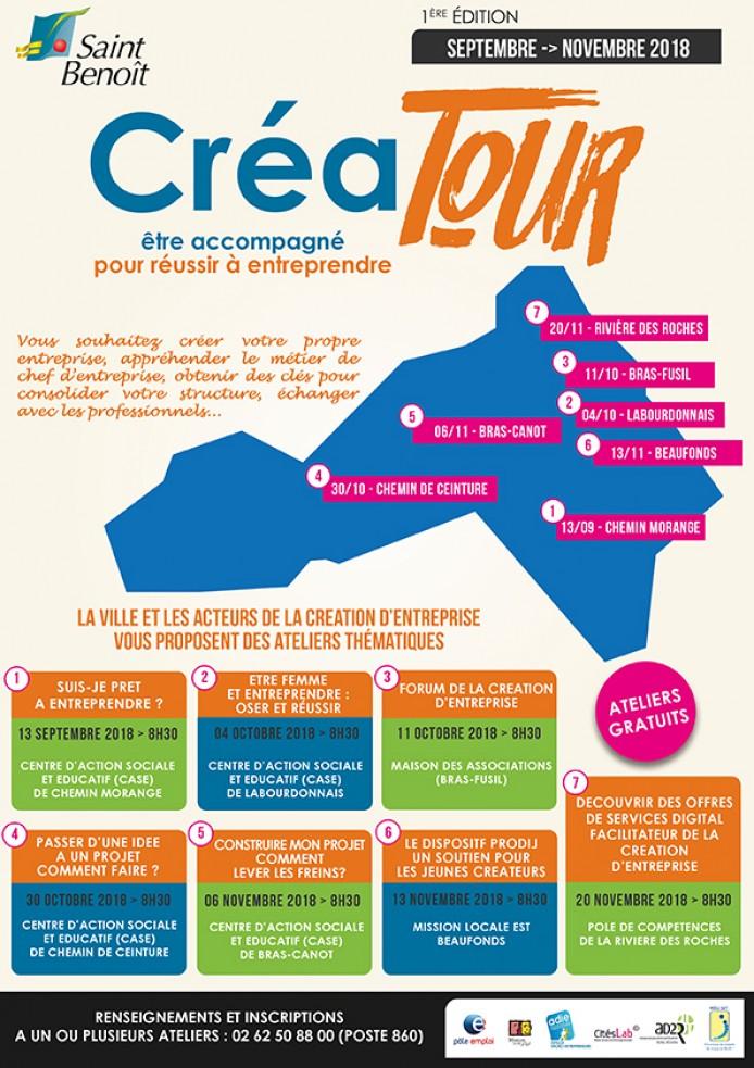 """""""CréaTour"""" : être accompagné pour réussir à entreprendre !"""
