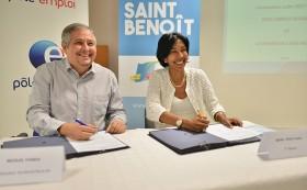 Signature d'une convention cadre entre le Pôle emploi et la commune