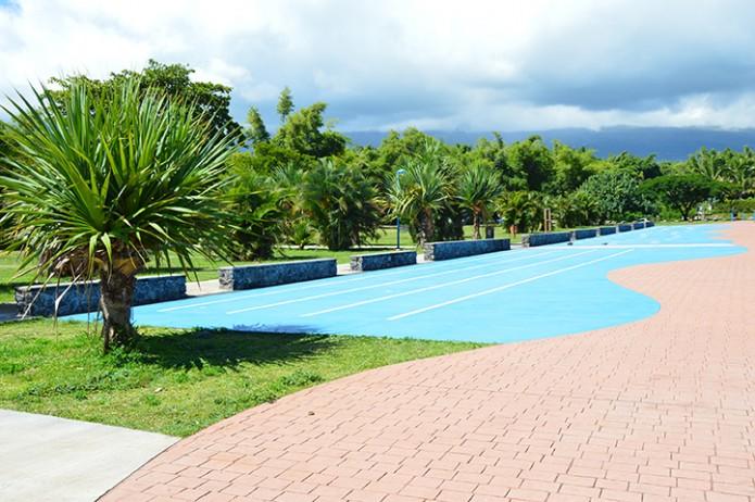 Les jeux d'eau du bassin bleu à nouveau fonctionnels !