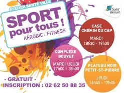 """Reprise des séances """"Sport pour tous"""" : zumba, aérobic, fitness !"""