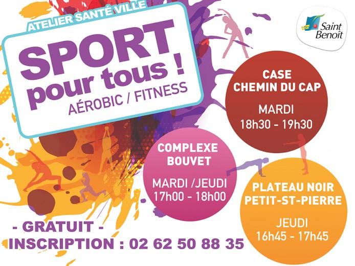 Sport pour tous : zumba, aérobic, fitness !