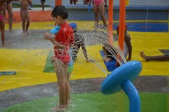 Jeux d'eau de la Piscine de la gare